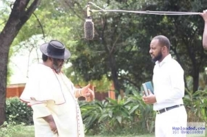 Father & Son In Action!! Checkout This Photo Of Pete & Yul Edochie On The Set Of A Movie